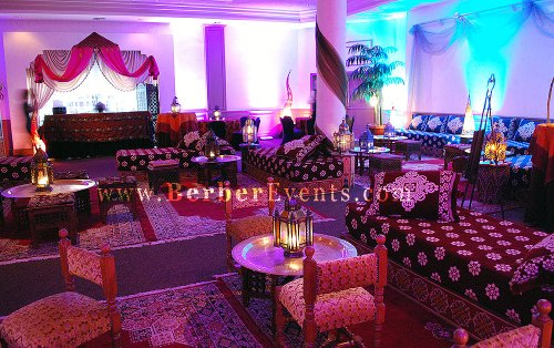 Authentic Moroccan Lounge furniture and Lanterns throughout