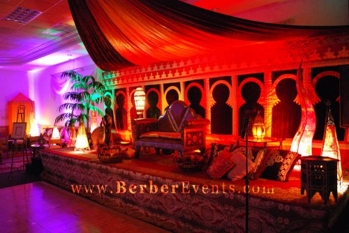 VIP Moroccan decor Stage for the Debutantes